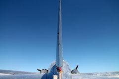 Ogon samolot w locie Obraz Stock