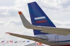 Ogon samolotu ÑˆÑ 'Moskwa pokaz lotniczy Fotografia Stock