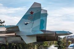 Ogonu SU-27 wojownik Obraz Royalty Free