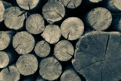 Ogony drewniani round promienie zdjęcia stock