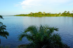 Ogowe-Fluss, Gabun Lizenzfreie Stockfotos