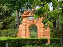 Ogród Alcazar, park, Royal Palace, Seville, Andalusia, Hiszpania, Europa zdjęcia stock
