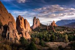 Ogród bóg w Colorado wiosnach fotografia stock