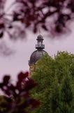 Ogród botaniczny w Hamburg, parkowym centrum z dachem o blisko Obraz Royalty Free
