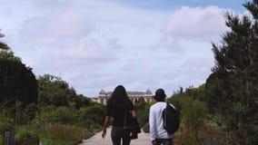 Ogród botaniczny w Paryż Powierzchowność Wielka ewolucja Galera zbiory wideo