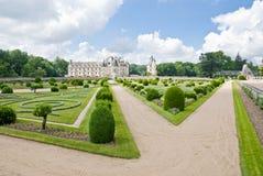 ogród chenonceau zamku Fotografia Stock