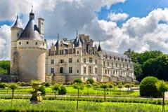 ogród chenonceau zamku zdjęcie stock