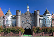 ogród fantazja zamku Obrazy Royalty Free