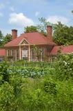 Ogród i lato dom przy Mount Vernon dom George Washinton na bankach Potomac rzeka w usa Fotografia Stock