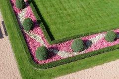 ogród kształtował teren Obrazy Royalty Free