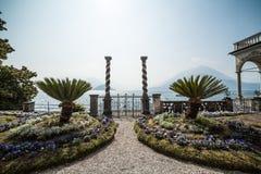 Ogród na Como jeziorze lombardy Włochy Zdjęcia Stock