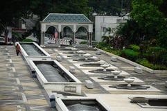 Ogród przy Krajowym meczetem Malezja a K masjid Negara Obraz Stock