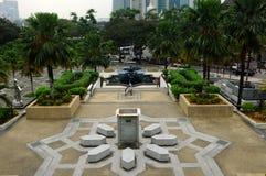 Ogród przy Krajowym meczetem Malezja a K masjid Negara Obrazy Stock