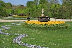 Ogród przy Schonbrunn pałac w Wiedeń, Austria Zdjęcia Stock