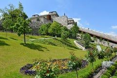 Ogród Royal Palace, Budapest, Węgry Obraz Stock