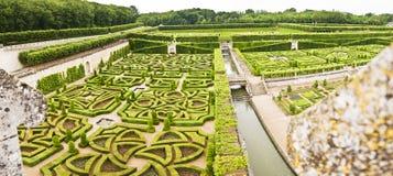 ogród villandry zamku Obrazy Royalty Free