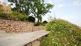 Ogród wśrodku Alcazaba Almeria miasto zbiory