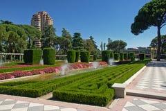 Ogród w Retiro parc w Madryt Obraz Royalty Free