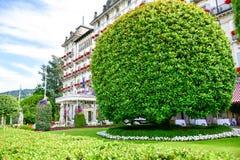 Ogród w Stresa na Maggiore jeziorze, Włochy zdjęcia stock
