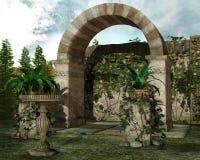 Ogród z bluszczem Zdjęcia Stock