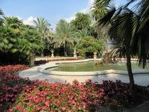 Ogród z fontanną Obrazy Stock