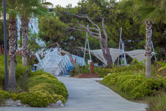 Ogród z mostem Zdjęcia Stock