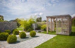 Ogródu botanicznego Volcji potok, Slovenia Zdjęcia Royalty Free