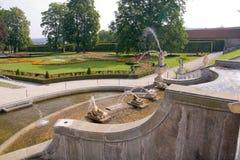 ogródu grodowy cesky krumlov Zdjęcia Royalty Free