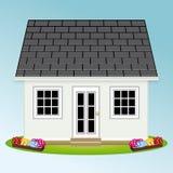 ogródu piękny dom proroctwo mieszkań nieruchomości domów prawdziwego czynszu sprzedaży ilustracji