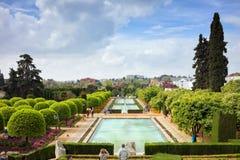 Ogródy alcazar w Cordobie fotografia royalty free