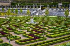 Ogródy Górska chata De Villandry, Francja obrazy royalty free