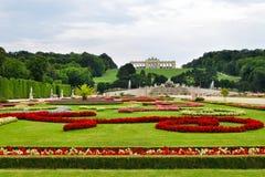Ogródy przy Schonbrunn pałac obraz stock