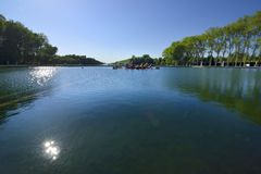 Ogródy Versailles w Francja i pałac obrazy stock
