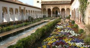 Ogródy w Alhambra, Granada, Hiszpania Fotografia Stock