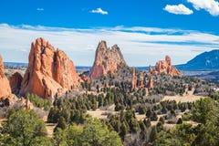 Ogr?d b?g, Colorado Springs, Kolorado fotografia stock