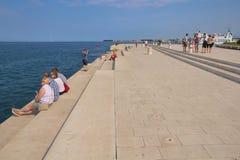 Ogran do mar em Zadar Imagens de Stock Royalty Free