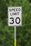 30 ograniczeń prędkość Zdjęcie Stock