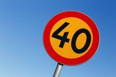 40 ograniczeń prędkości Zdjęcia Stock