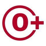 Ograniczenie pełnoletnia ikona na czerwonym tle Ikona limita wieku wektorowa płaska ilustracja Obrazy Stock