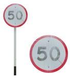 Ograniczenie prędkości znak Obrazy Royalty Free