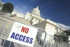 Ograniczony dostęp Capitol Budynku poczta 9/11, Waszyngton D C zdjęcia stock