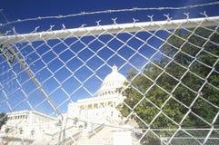 Ograniczony dostęp Capitol Budynku poczta 9/11, Waszyngton D C zdjęcie royalty free