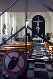 Ograniczony dostęp w kościół obraz stock