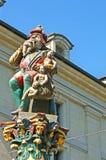 The ogre of Berne. The medieval Child Eater Fountain, named Kindlifresserbrunnen or Platzbrunnen, depicting the ogre, that eats misbehaving children Stock Photo