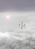 Ogre castle in clouds Royalty Free Stock Photo