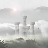 Ogre castle in clouds Royalty Free Stock Photography