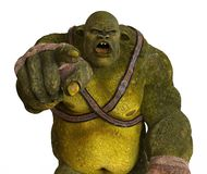 Ogre 3D Illustration Royalty Free Stock Photo