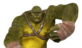 Ogre 3D Illustration Royalty Free Stock Image