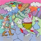 Ogre de combat nain illustration stock