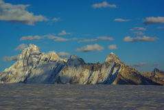 Ogre peak. Who is possible to see from hispar pass in the  karakoram mountain range Royalty Free Stock Photography
